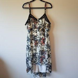 Torrid Hi Low Floral Lace Dress I